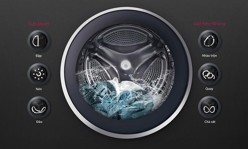 Máy giặt LG FC1409S4W Bảo vệ tối ưu cho vải với 6 Chuyển động DD