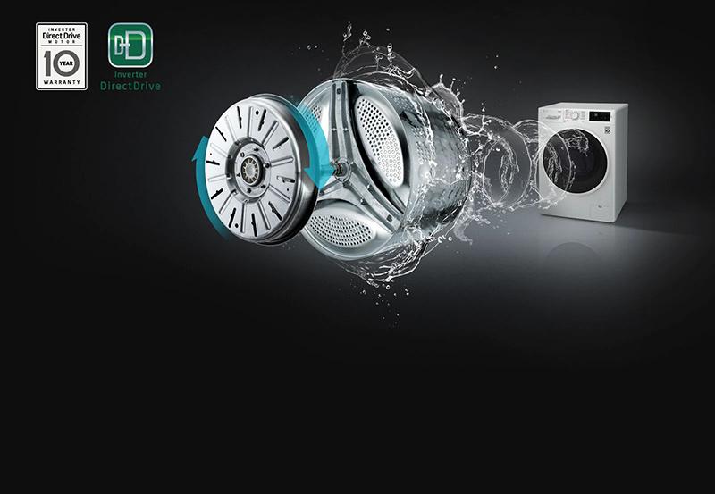 Máy giặt LG FC1409S4W giảm rung, giảm ồn