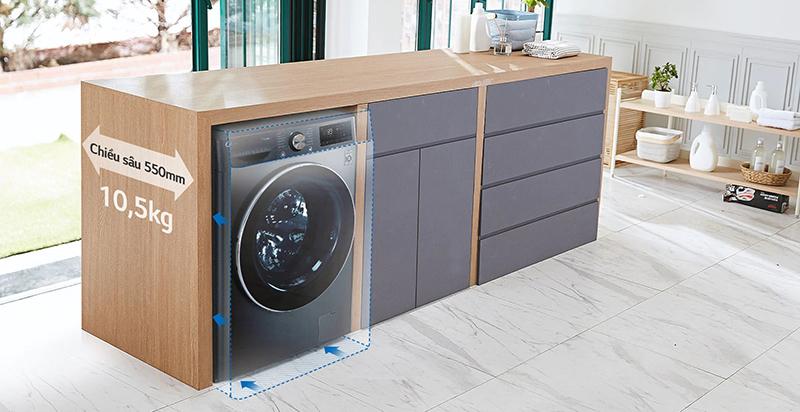 Máy giặt LG FV1450H2B với dung tích lớn nhất nhưng vẫn vừa vặn hoàn hảo