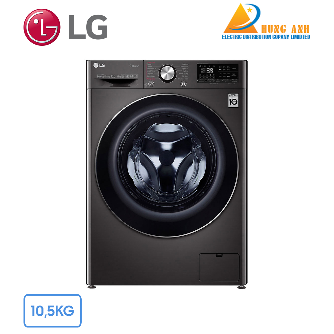 Máy giặt sấy LG 10.5 kg FV1450H2B | Giá rẻ nhất tại Hùng Anh