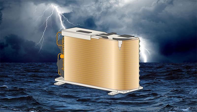 Điều hoà Casper 1 Chiều 24000 BTU LC-24FS32 Dàn tản nhiệt bằng đồng, cánh tản nhiệt chống ăn mòn giúp tăng tuổi thọ của máy
