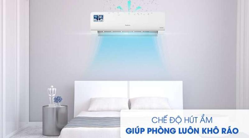 Điều hòa Nagakawa Inverter 1 chiều 24000 BTU NIS-C24R2H10 Căn phòng thoáng đãng, khô ráo với chế độ hút ẩm